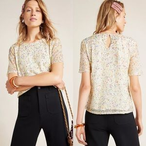 ANTHROPOLOGIE Varun Bahl Lynnie Sequined Blouse